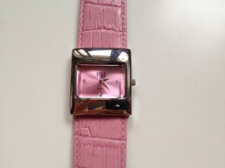 Damenuhr Osco Time,  Rosa,  Ungetragen,  Armband Echtleder Bild