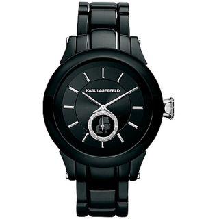 Damen Uhr Karl Lagerfeld Kl1206 Schwarzes Ziffernblatt Stahl Armband Bild