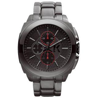 Karl Lagerfeld Kl1603 Herren Gunmetal Gunmetal DfÜ Stahl Armband Chrono Uhr Bild
