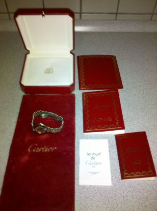Cartier Must De Cartier 21 In Stahl / Gold Damenuhr Bild
