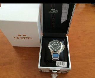 Tw Steel Canteen Tw - 300 Unisex Edelstahl Armband Uhr & Ovp - Uvp 299.  - Bild