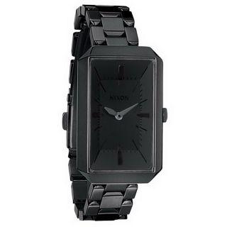 Nixon A284001 Frauen The Paddington Schwarz Ip Schwarze Stahl DfÜ Armbanduhr Bild