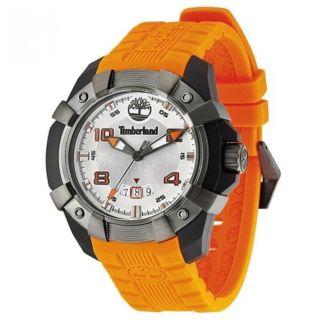 Armbanduhr Timberland Tbl - 13326jpbu - 04 Silber Zifferblatt Orange Silikon Armband Bild