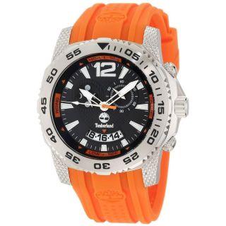 Armbanduhr Timberland Tbl - 13319js - 02a Schwarzes Zifferblatt Orange Gurt Herren Bild