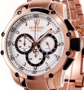 Detomaso Herren - Armbanduhr Xl Pesaro Dt1042 - A Classic Chronograph Quarz Edelstah Bild