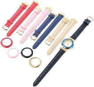 Damenuhr Mit 5 Farbigen Wechsel - Armbändern Bild