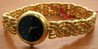 Aristo 1d19j Elegante Quartz Damen Uhr Vergoldet Schmuckband Uhr Watch Bild