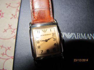 Armani Damen Armbanduhr Braun Bild