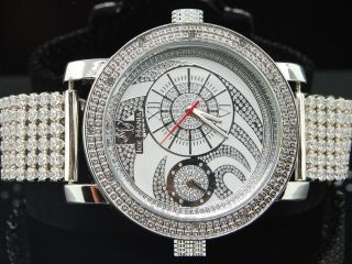 Herren Armbanduhr Uhr Ice Mania Jojio Joe Rodeo Diamantenuhr Mit 2 Zeitzonen Bild