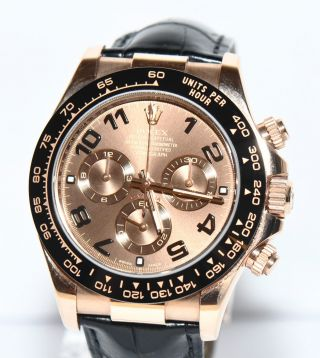 Rolex Daytona Rosegold Uhr Keramik Lünette 2012 Papiere Box 116515ln Bild