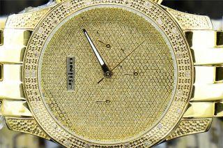 Jojino Joe Rodeo Armbanduhr Gelb Ton 0.  25kt Diamant Illusion Wahl Ij1122 Bild