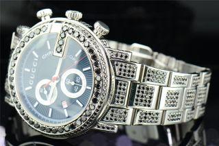 Armbanduhr Mit Schwarzem Ziffernblatt Gucci Ya101309 16.  50 Ct. Bild