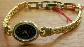 Aristo 1d31h Elegante Quartz Damen Uhr Vergoldet Schmuckband Uhr Watch Bild