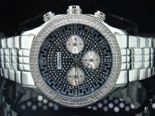 Mens Jojino/jojo/joe Rodeo - Diamant - Uhr Metal Band Cursh Dial 45mm.  25ct Ij1127 Bild