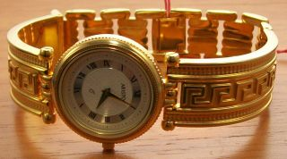 Aristo 1d63r Elegante Quartz Damen Uhr Vergoldet Spangenband Uhr Watch Bild