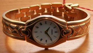 Aristo 1d53r Elegante Quartz Damen Uhr RosÈ Vergoldet Spangenband Uhr Watch Bild