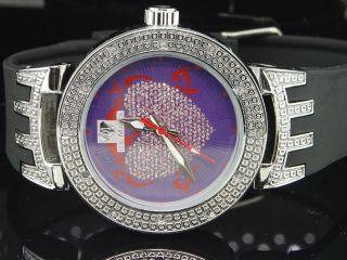 Damen Eis Manie Jojo Jojino/joe Rodeo Diamant Uhr /master Herzen Weiß Iml5004 Bild