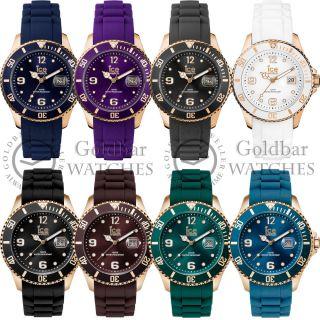 Armband Uhr Ice Style Rotgold Stahlgehäuse Silikon 8 Designs Bild