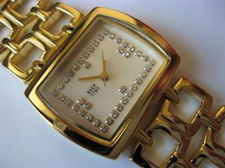 Osco - Damenuhr - Rechteckig - Gold - Ziersteine, Bild