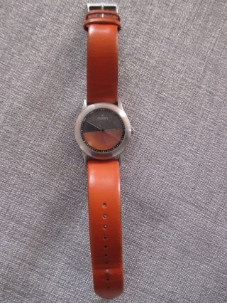 Noon Copenhagen Herren Uhr Edelstahl Lederband Orange Stylisch - Top Bild