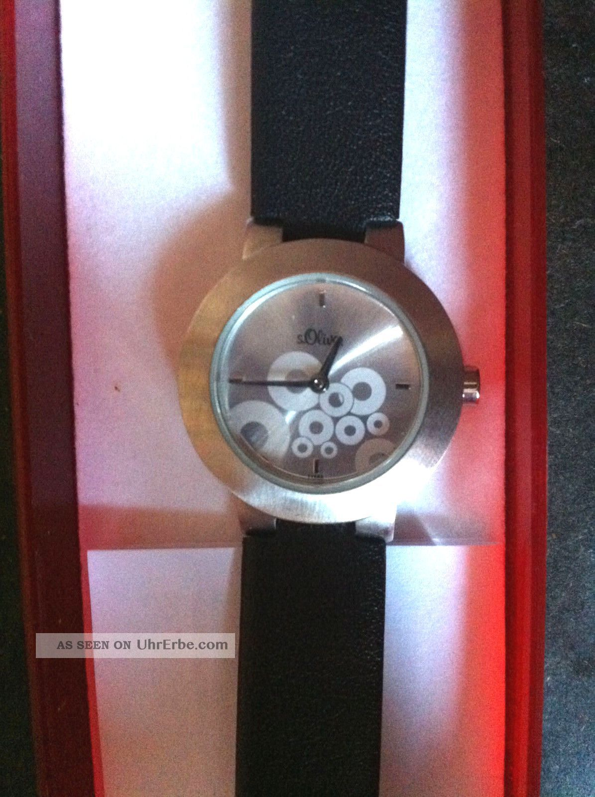 S.  Oliver Damenuhr Echt Leder Armbanduhren Bild