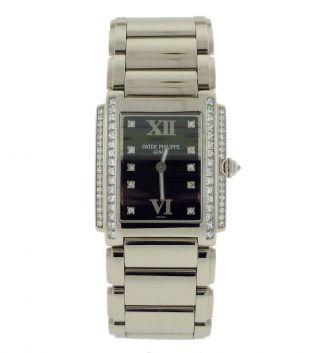 Armbanduhr Patek Philippe Twenty - 4 Mittel 4910/20g Weißgold Doppelte Reihe Bild