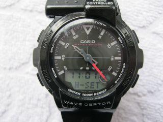 Armbanduhr Funk Funkarmbanduhr Casio Wave Ceptor Fkt 110 1e Radio Controlled Bild