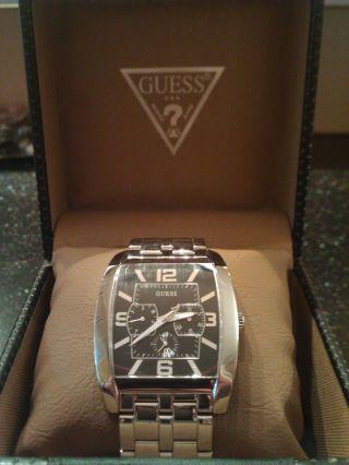 Guess Armbanduhr Für Herren,  Silber Bild