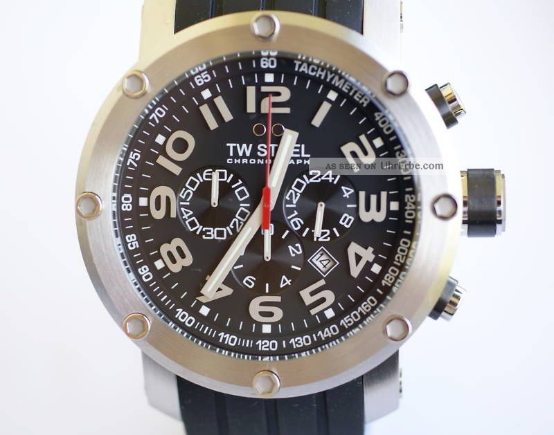 Tw - Steel Xxl 48mm - Mit Kautschukb.  Tw121 Armbanduhren Bild