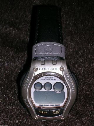 Uhr Armbanduhr Herrenuhr Casio Illuminator Geotrail Ft111h 1966 Outdoor Bild