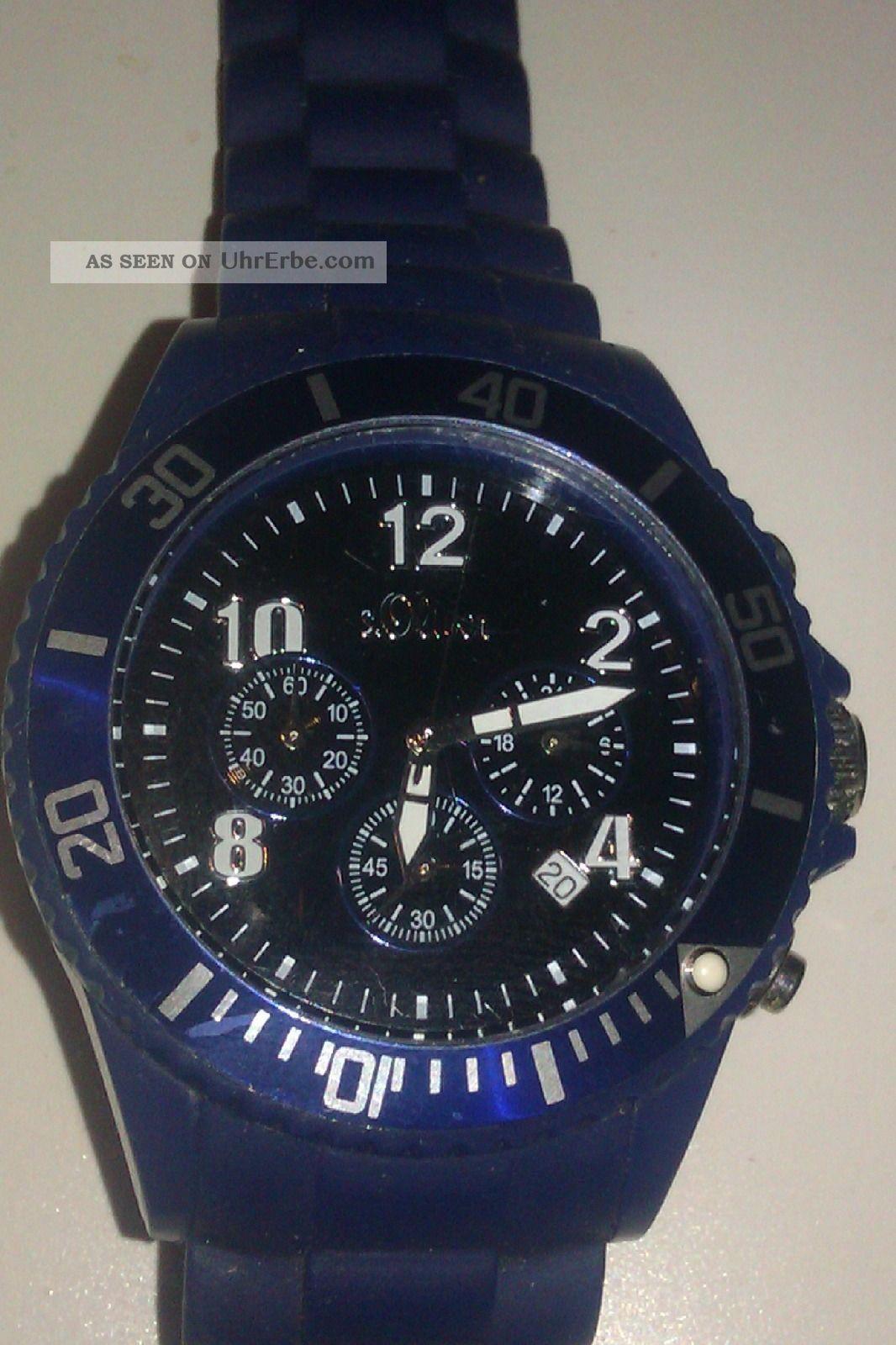 S.  Oliver: Herrenuhr In Dunkel Blau Armbanduhren Bild