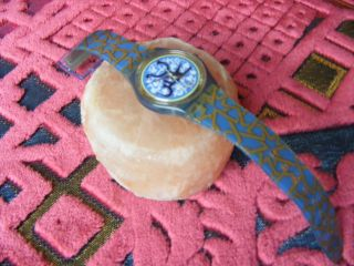 Swatch Uhr Golestan - Gn160 - RaritÄt (1995) Bild