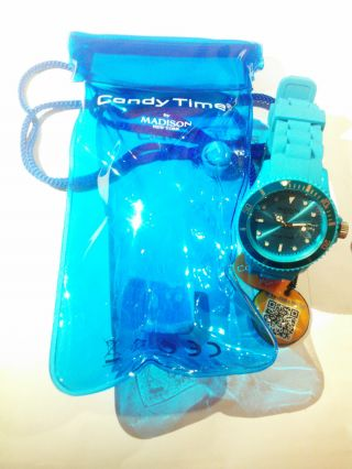 Madison York Candy Time Armbanduhr Uhr Blau - - Bild