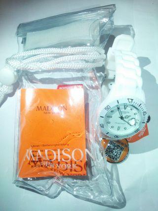Madison York Armbanduhr Uhr Weiß - - Bild