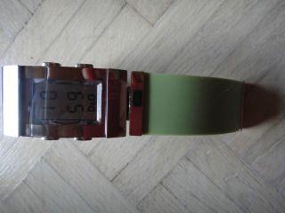 Dolce & Gabbana Uhr Watch Grün Hellgrün Stahl Stainless Steel Silberner Box Bild