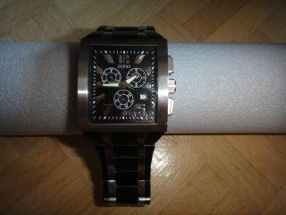 Guess Uhr Metallband U18500g1 Stahl Steel Silber Schwarz W20006gi Bild