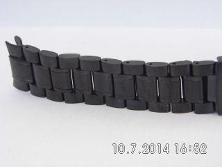 Uhrband Edelstahl Schwarz 18 Mm Optik An Einem Automatic - Chronograph Bild