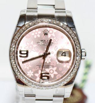 Rolex Datejust 2013 Stahl/gold Uhr Ref.  116244 Brillant Lünette Np11900€ Bild