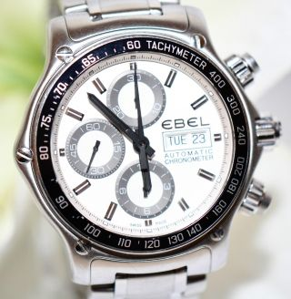 Ebel Chronograph Stahl Uhr 1911 Discovery Chronometer Ref.  1215795 Papiere 2013 Bild