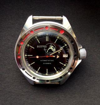 Mechanische Automatik Armbanduhr Wostok,  Mit Taucher,  46 Mm,  Kaliber 2416 Bild