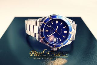 Paul Picot Mariner Ii Chronometer - Blau / Gold - Box - Uvp €4.  200,  - Bild