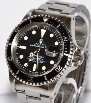 Rolex Submariner Stahl Uhr Ref.  1680 Box Ca.  1977 Bild