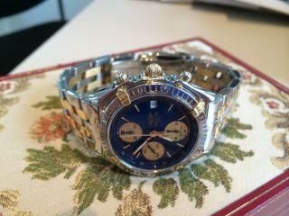 Breitling Chronograph,  Pilotband In Stahlgold Bild