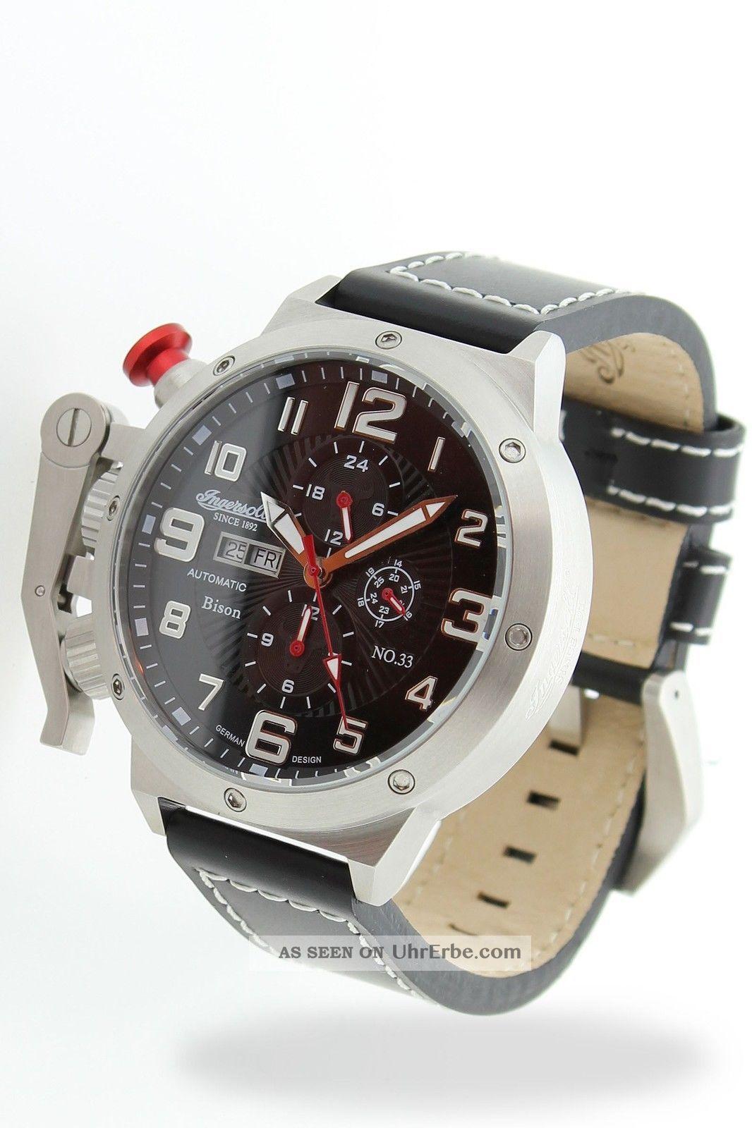 Ingersoll - Bison N0.  33 - In1629bkwh Herrenarmbanduhr Armbanduhren Bild