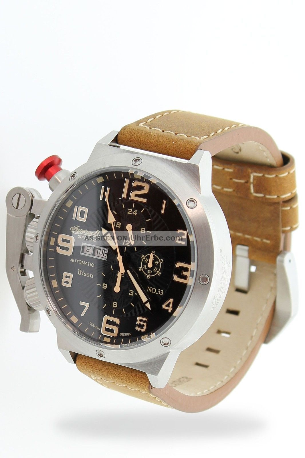 Ingersoll - Bison N0.  33 - In1629bkyl Herrenarmbanduhr Armbanduhren Bild