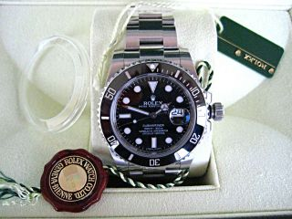 Rolex Submariner Date 116610ln,  Keramiklünette,  Rehaut,  Papiere,  Box,  11/2013 Bild