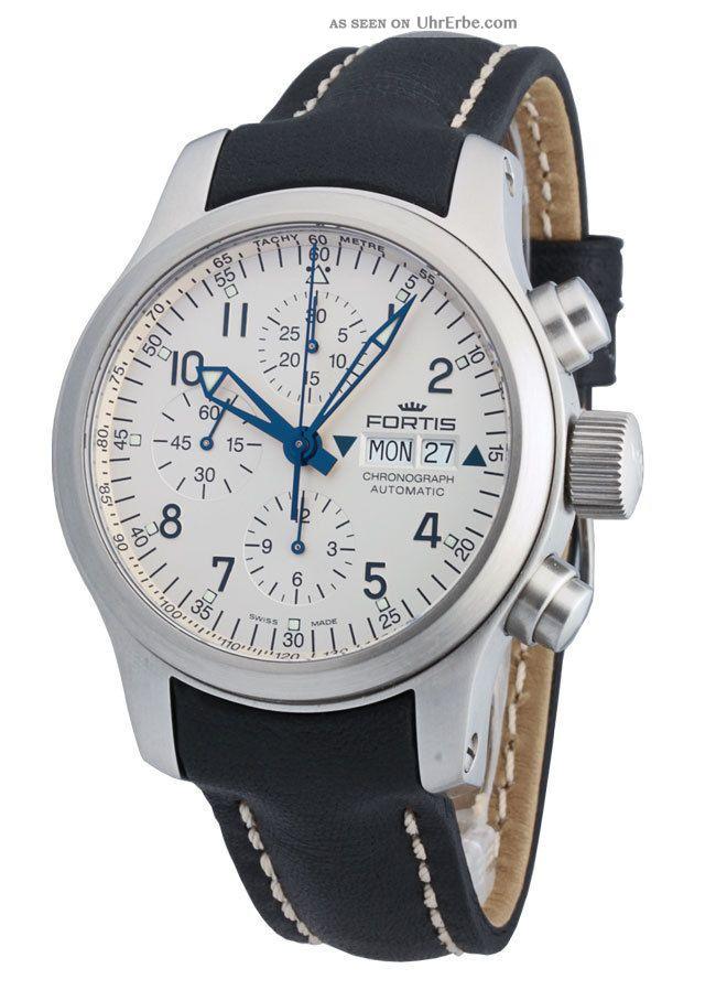 Fortis B - 42 Pilot Professional Automatik Chronograph Day Date 635.  10.  12 L.  01 Armbanduhren Bild