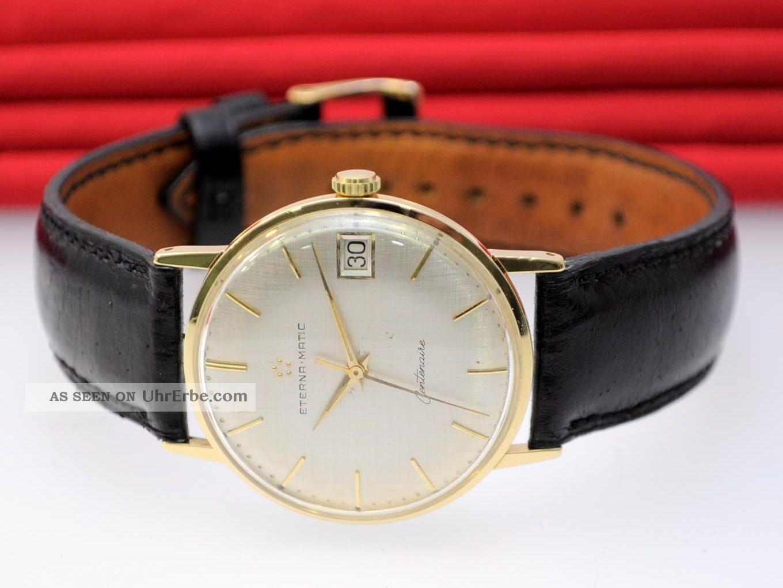 Eterna Matic Centenaire 18kt 750 Gold Automatic Cal.  1438u Gold Watch Orologio Armbanduhren Bild