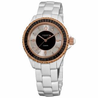 Damen Armbanduhr Akribos Xxiv Ak498bk Mit Kristall Und Keramik Gehäuse Bild