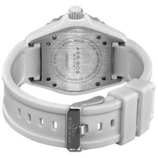 Damen Armbanduhr Akribox Xxiv Ak502wt / Groß / Keramikgehäuse / Datum / Gummi Bild